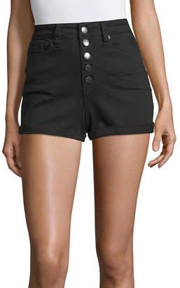 YMI Jeanswear Womens High Waisted Denim Short-Juniors