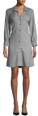 Halston H Pintuck A-Line Shirtdress