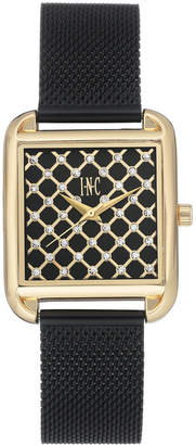 INC International Concepts I.N.C. Women's Black Stainless Steel Mesh Bracelet Watch 30x37mm, Created for Macy's