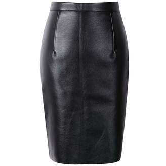 93b4331ea48 betterluse Winter Skirt Sexy Faux Fur Leather Pu High Waist Women Pencil  Skirts Wrap Bodycon Short