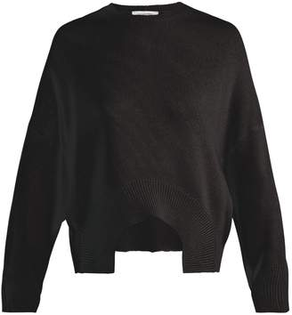 Valentino Curved-hem cashmere sweater