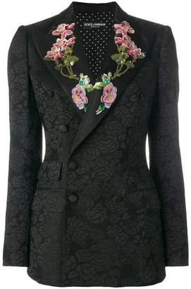 Dolce & Gabbana sequinned floral detailed blazer