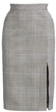 Theory Plaid Zip Pencil Skirt