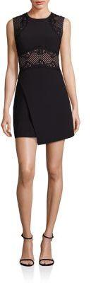 BCBGMAXAZRIABCBGMAXAZRIA Sleeveless Dress with Faux Wrap Style