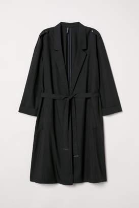 H&M Modal-blend Trenchcoat - Black