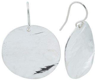 Made In Israel Sterling Silver Disc Earrings