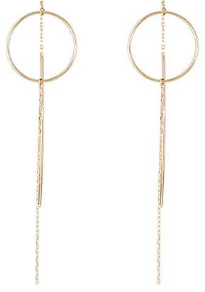 Hirotaka Women's Yellow Gold Wire-Ring & Chain Earrings - Gold