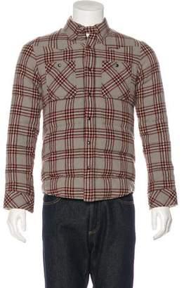Visvim Plaid Wool Down Quilted Flannel Jacket