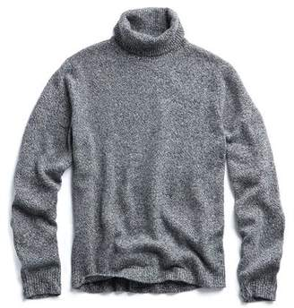 Todd Snyder Marled Chunky Cashmere Turtleneck in Grey Heather