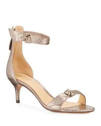 Alexandre Birman 50 MM Clarita Snakeskin Sandals