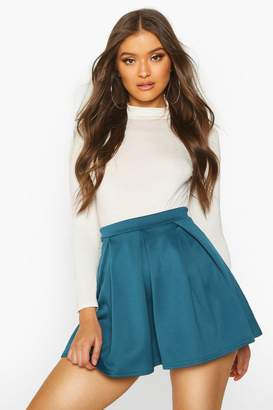 boohoo Sophie Basic Scuba Mini Skater Skirt