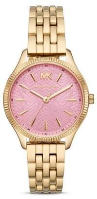 Michael Kors Lexington Gold-Tone Link Bracelet Watch, 36mm