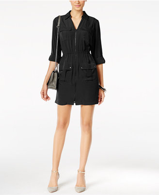 Alfani Utility Shirtdress, Only at Macy's $79.50 thestylecure.com