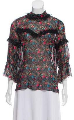 Anna Sui Silk Printed Blouse
