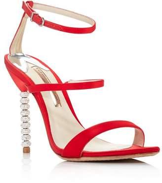 Sophia Webster Women's Rosalind Crystal Satin High-Heel Sandals
