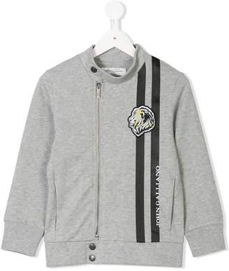 John Galliano logo strip zip sweatshirt