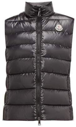 Moncler Ghany High Neck Quilted Down Gilet - Womens - Black