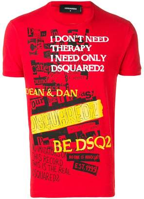 DSQUARED2 I Don't Need Therapy T-shirt