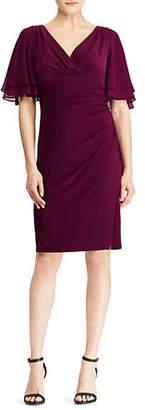 Lauren Ralph Lauren Jersey Flutter Sleeve Dress
