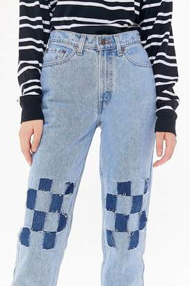 Urban Renewal Vintage Recycled Levi's Checkerboard Jean