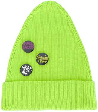 Marc Jacobs button badge beanie