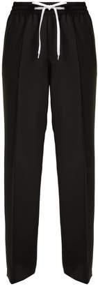 Miu Miu Side-stripe wool and mohair-blend track pants