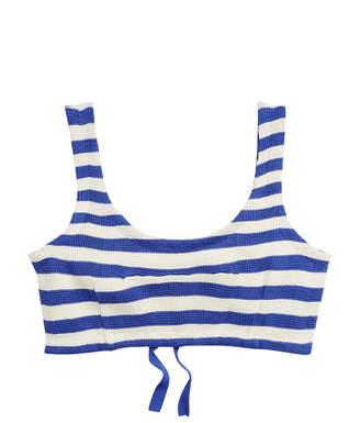 Ralph Lauren Striped Silk Bra Top