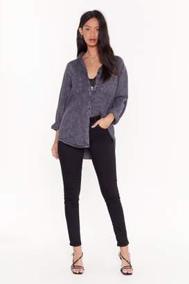 Nasty Gal Womens Keep Me Close Mid-Rise Skinny Jeans - Black - 6