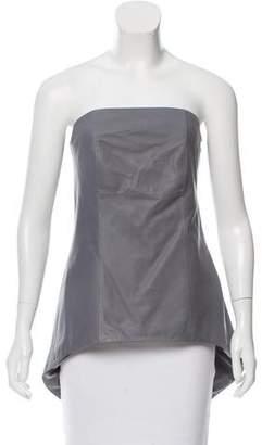 Brunello Cucinelli Strapless Leather Top