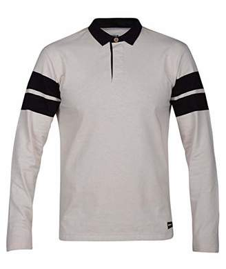 Hurley Men's Collared Rugby Polo Long Sleeve Shirt