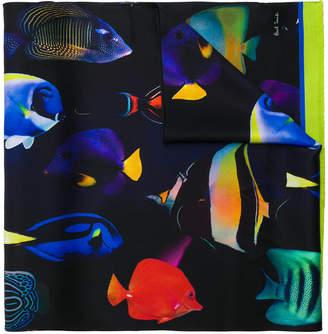 Paul Smith Tropical Fish print scarf