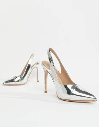Asos Design DESIGN Pepper pointed slingback high heels