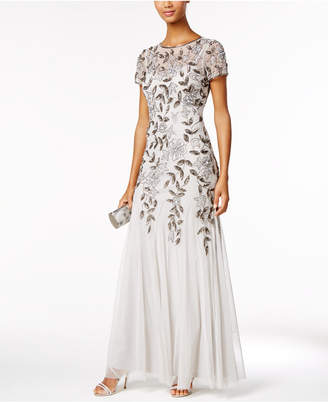 Adrianna Papell Petite Embellished Empire-Waist Gown $300 thestylecure.com