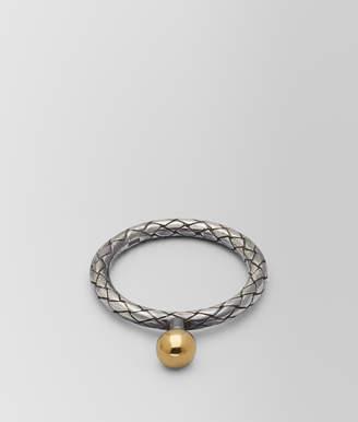 Bottega Veneta ANTIQUE SILVER/YELLOW GOLD PATINA DICHOTOMY RING