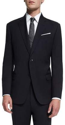 Armani Collezioni G-Line New Basic Two-Piece Wool Suit, Navy