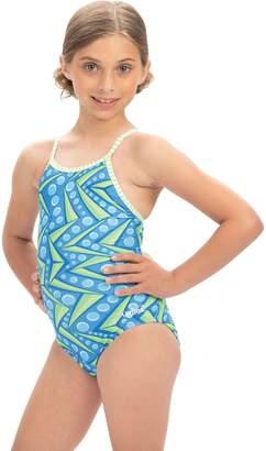 Dolfin Uglies Girls' Zenon Print Keyhole Back 1-Piece Swimsuit