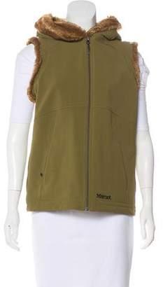 Marmor Faux Fur-Trimmed Hooded Vest