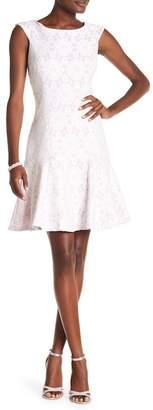 Nanette Lepore NANETTE Daisy Bonded Cap Sleeve Dress