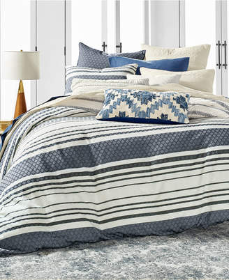 Lucky Brand Stripe Bed Cotton 3-Pc. Full/Queen Duvet Cover Set