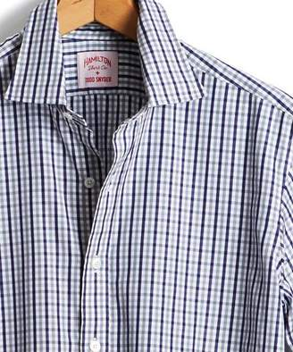 Todd Snyder + Hamilton Made in the USA Hamilton + Tattersall Dress Shirt in Navy/Grey