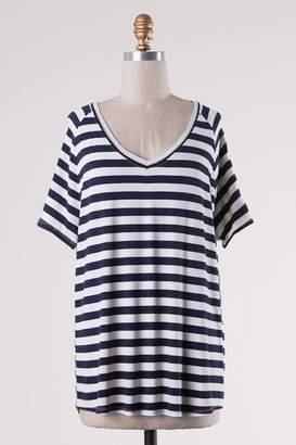 Double Zero Navy Stripes Comfy-Tee
