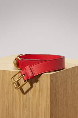 Gucci Leather belt with snaffle