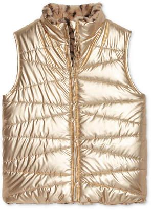 Epic Threads Big Girls Faux-Fur Reversible Vest