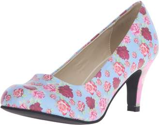 T.U.K. Women's Floral Mix Anti-Pop Heel Dress Pump