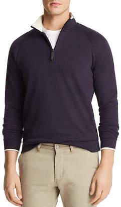 Bloomingdale's The Men's Store at Tipped Quarter-Zip Long Sleeve Pullover - 100% Exclusive