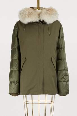 Yves Salomon Army Fur-lined cotton and nylon parka
