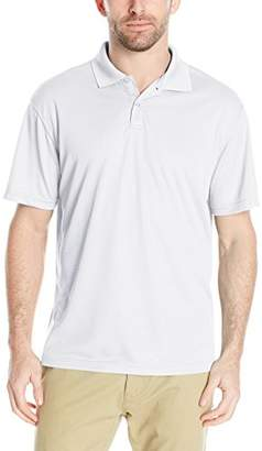 Haggar Men's Big and Tall Short Sleeve Solid Textured Knit Polo