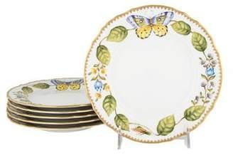 Anna Weatherley Set of 6 Hand-Painted Dessert Plates