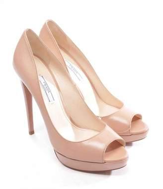 Prada Beige Leather Heels