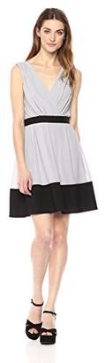 Wild Meadow Women's Sleeveless Color Block Fit and Flare Dress with Set in Waistband L